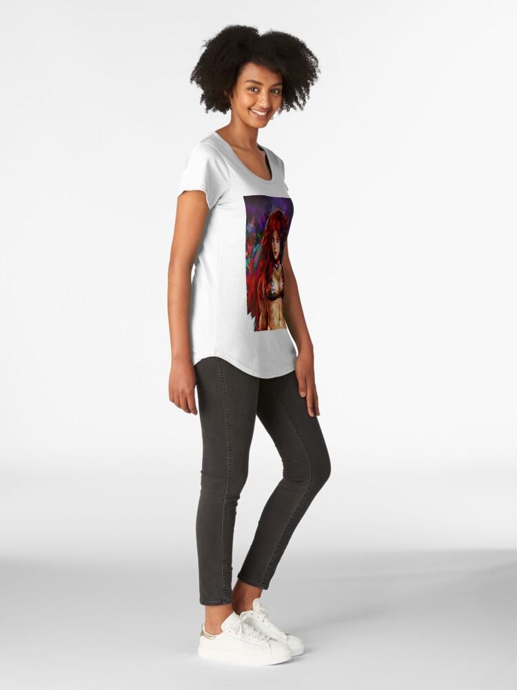 Alternative Ansicht von rote Sonja Premium Rundhals-Shirt