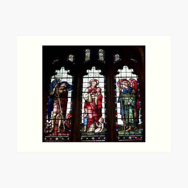 Stained Glass Window 0030 Art Print