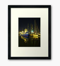 The Orwell Lady At Night, Ipswich Framed Print