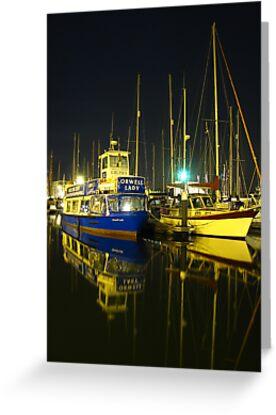 The Orwell Lady At Night, Ipswich by wiggyofipswich