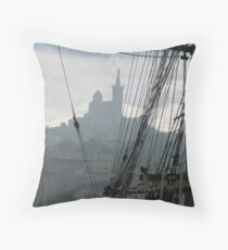 Le Vieux Port of Marseille Throw Pillow
