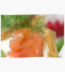 Smoked Trout with Vol-Au-Vent Poster