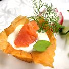 Vol-Au-Vent With Smoked Trout and Radish Cress by SmoothBreeze7