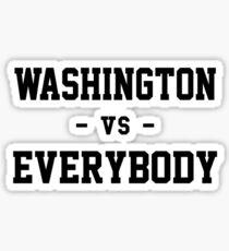 Washington vs Everybody Sticker