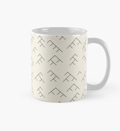 Tree diagram mug - cream and black Mug