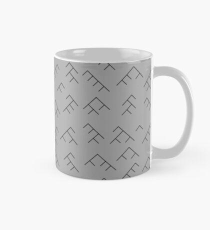 Tree diagram mug - grey and black Mug