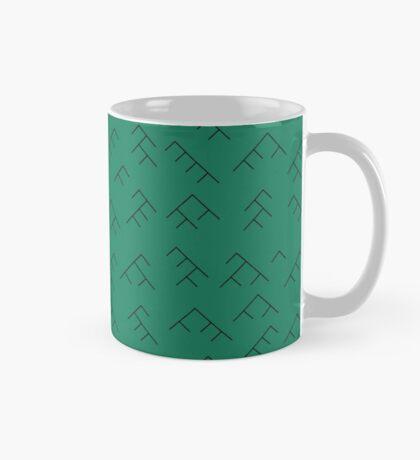 Tree diagram mug - turquoise and black Mug
