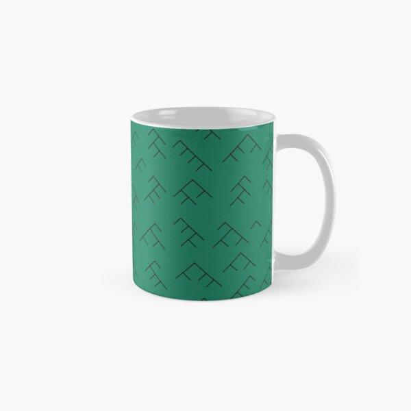 Tree diagram mug - turquoise and black Classic Mug
