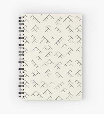 Tree diagram notebook - cream and black Spiral Notebook