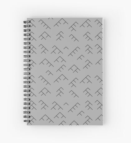 Tree diagram notebook - grey and black Spiral Notebook