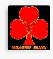 Hearts Club Canvas Print