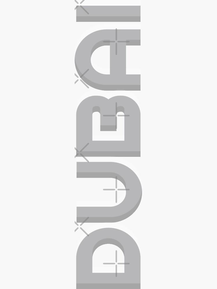Dubai Vertical Text by designkitsch