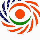 Niger American Multinational Patriot Flag Series by Carbon-Fibre Media