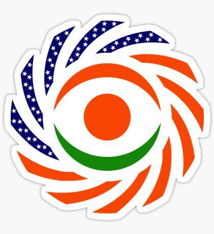 Niger American Multinational Patriot Flag Series Sticker