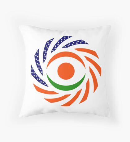 Niger American Multinational Patriot Flag Series Throw Pillow