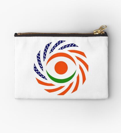 Niger American Multinational Patriot Flag Series Zipper Pouch