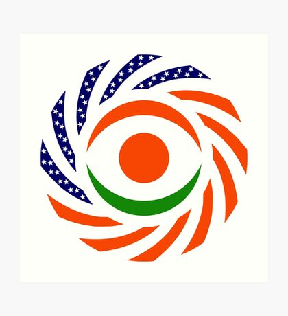 Niger American Multinational Patriot Flag Series Art Print