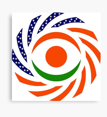 Niger American Multinational Patriot Flag Series Canvas Print