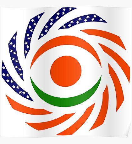 Niger American Multinational Patriot Flag Series Poster