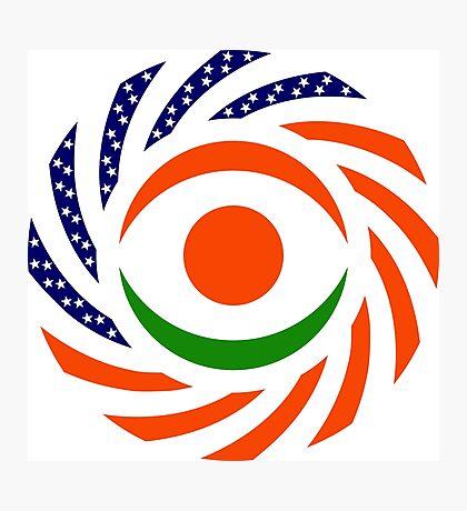 Niger American Multinational Patriot Flag Series Photographic Print