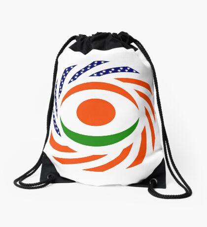 Niger American Multinational Patriot Flag Series Drawstring Bag