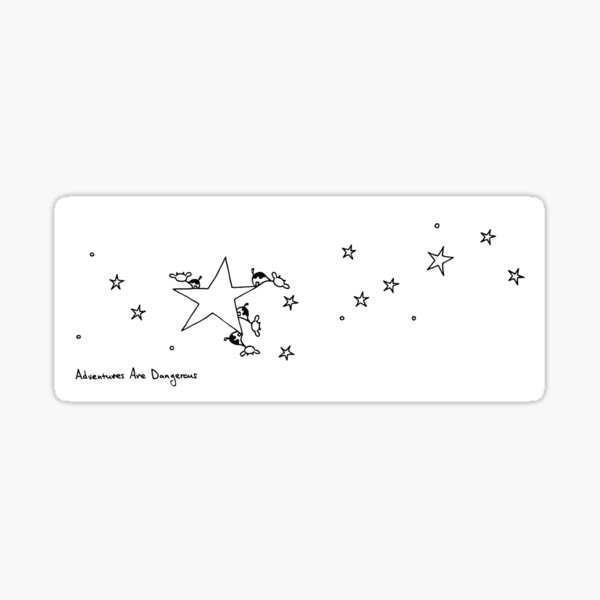 Cows on Star with Other Stars Sticker