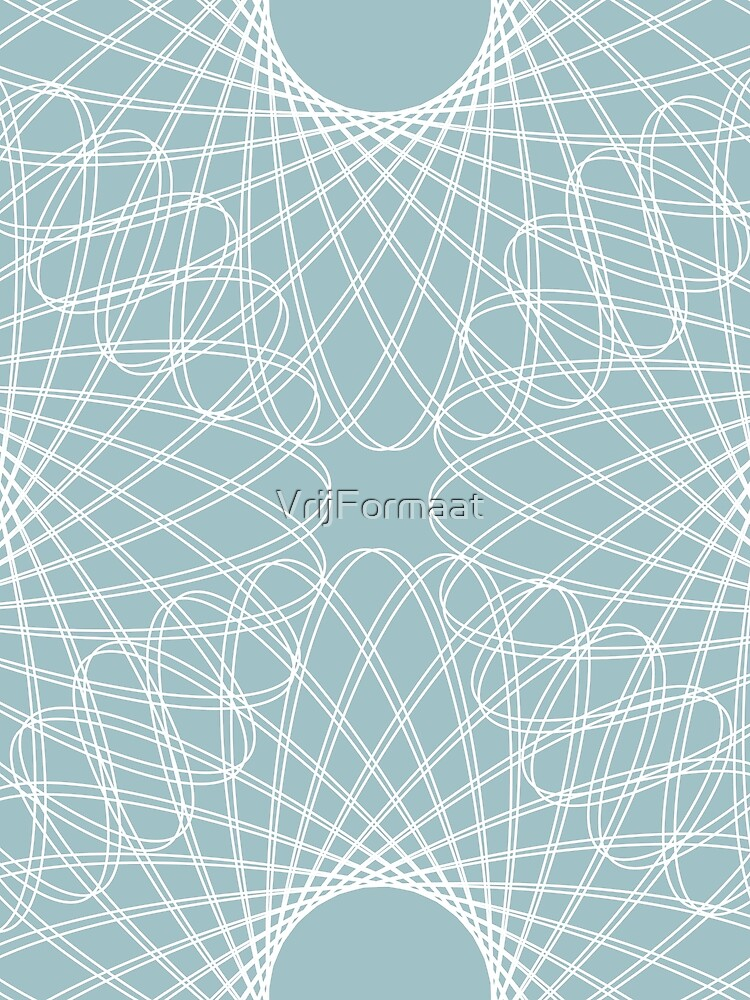 mathematical rotating roses - pale blue by VrijFormaat