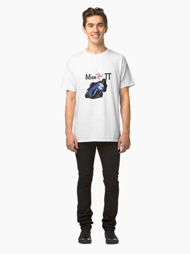 Alternate view of Isle of Man Manx TT Racer Classic T-Shirt