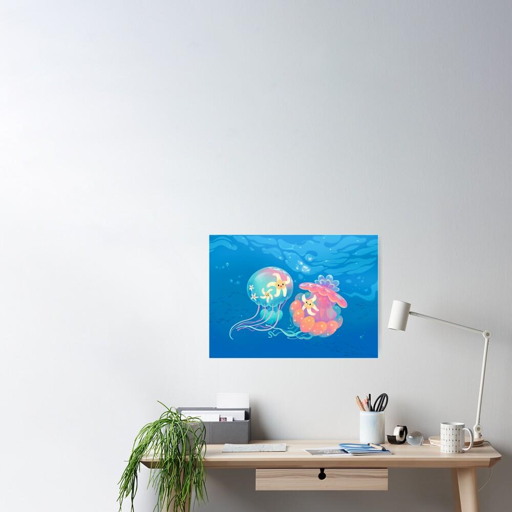 Jellyfish bus Poster
