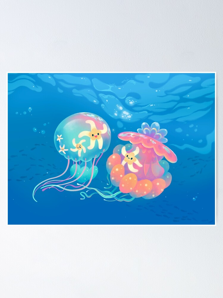 Alternate view of Jellyfish bus Poster