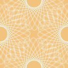 mathematical rotating roses - apricot by VrijFormaat