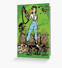 Alien Princess Greeting Card