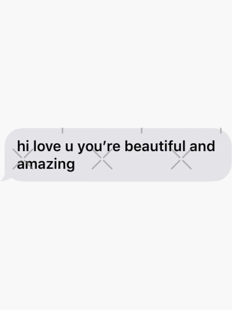 short you are beautiful text message  by Simplykatie