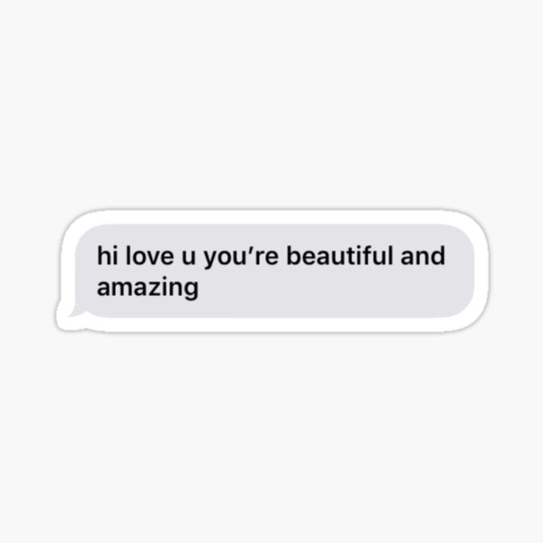 short you are beautiful text message  Sticker