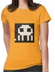 Space invader  Womens Fitted T-Shirt