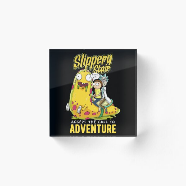 Slippery Stair Accept The Call To Adventure Acrylic Block