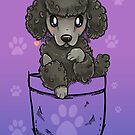 Pocket Cute Poodle Puppy Dog by TechraNova