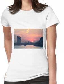 Sunset over Thames  Womens Fitted T-Shirt