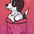 Pocket Cute Pointer Puppy Dog by TechraNova