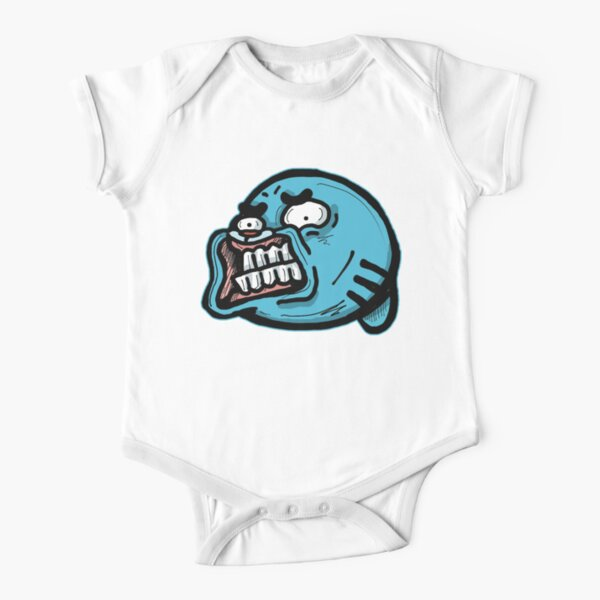 Gumball Watterson from The Amazing World of Gumball™ with a Funny Awkward Smile Short Sleeve Baby One-Piece
