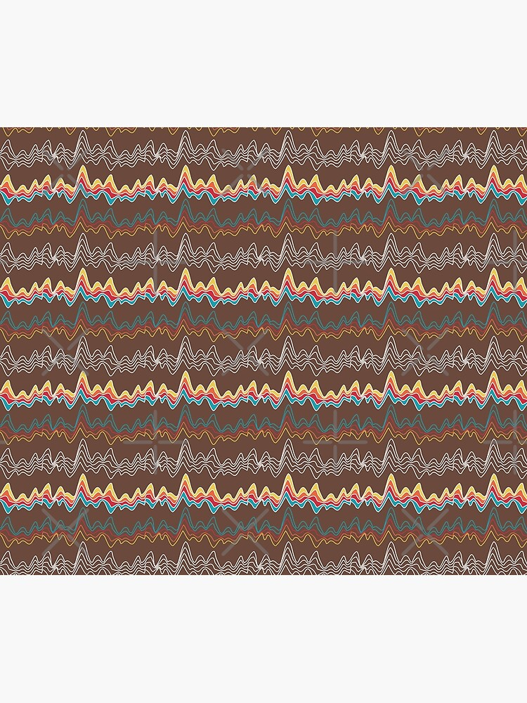 rainbow ecg mountains by nobelbunt