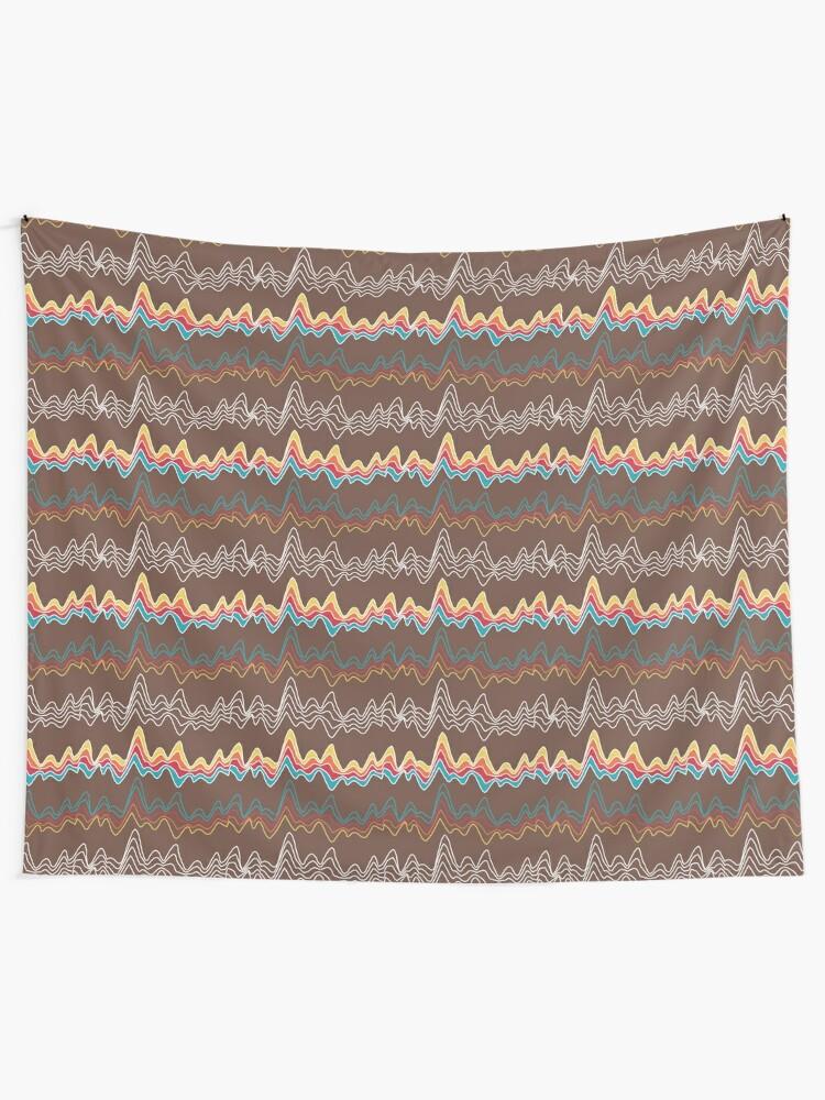 Alternate view of rainbow ecg mountains Tapestry