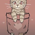 Pocket Cute Scottish Fold Cat Kitten  by TechraNova