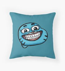 Gumball Watterson from The Amazing World of Gumball™ with a Funny Cheesy Smile Throw Pillow