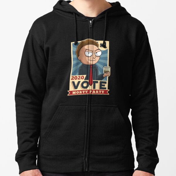 Vote Morty Party 2020 Zipped Hoodie