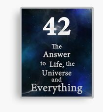 42 is the Answer Canvas Print