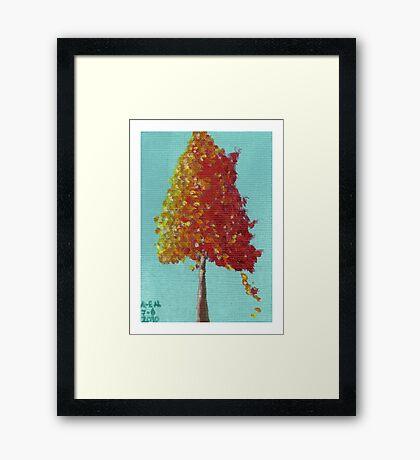 Awaiting Autumn Framed Print