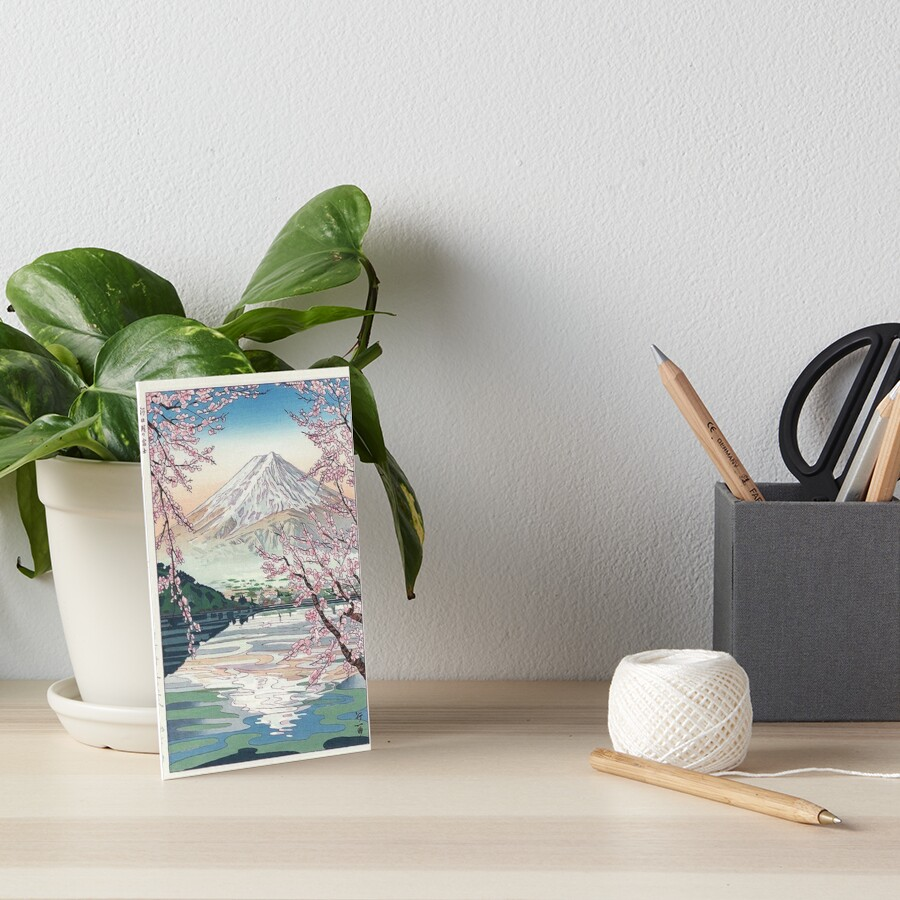 Mount Fuji Cherry Blossom Art Board Print