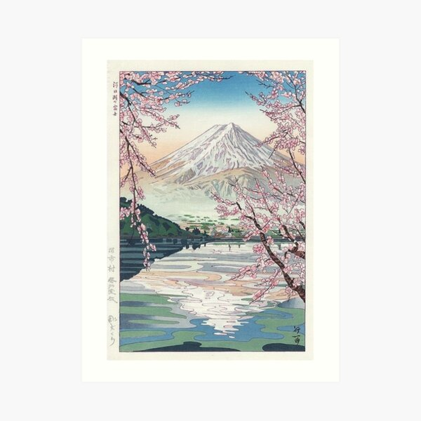Mount Fuji Cherry Blossom Art Print