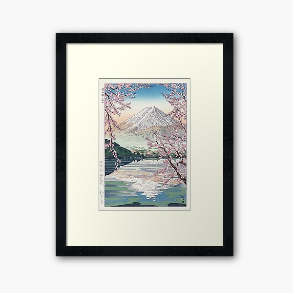 Mount Fuji Cherry Blossom Framed Art Print